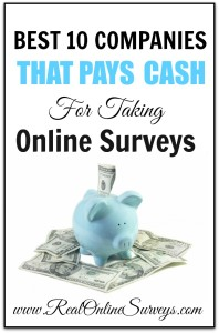 Best 10 Companies That Pays Cash For Taking Online Surveys