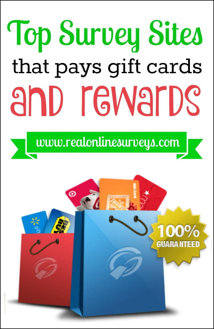 ... that pays you with gift cards and rewards for taking online surveys