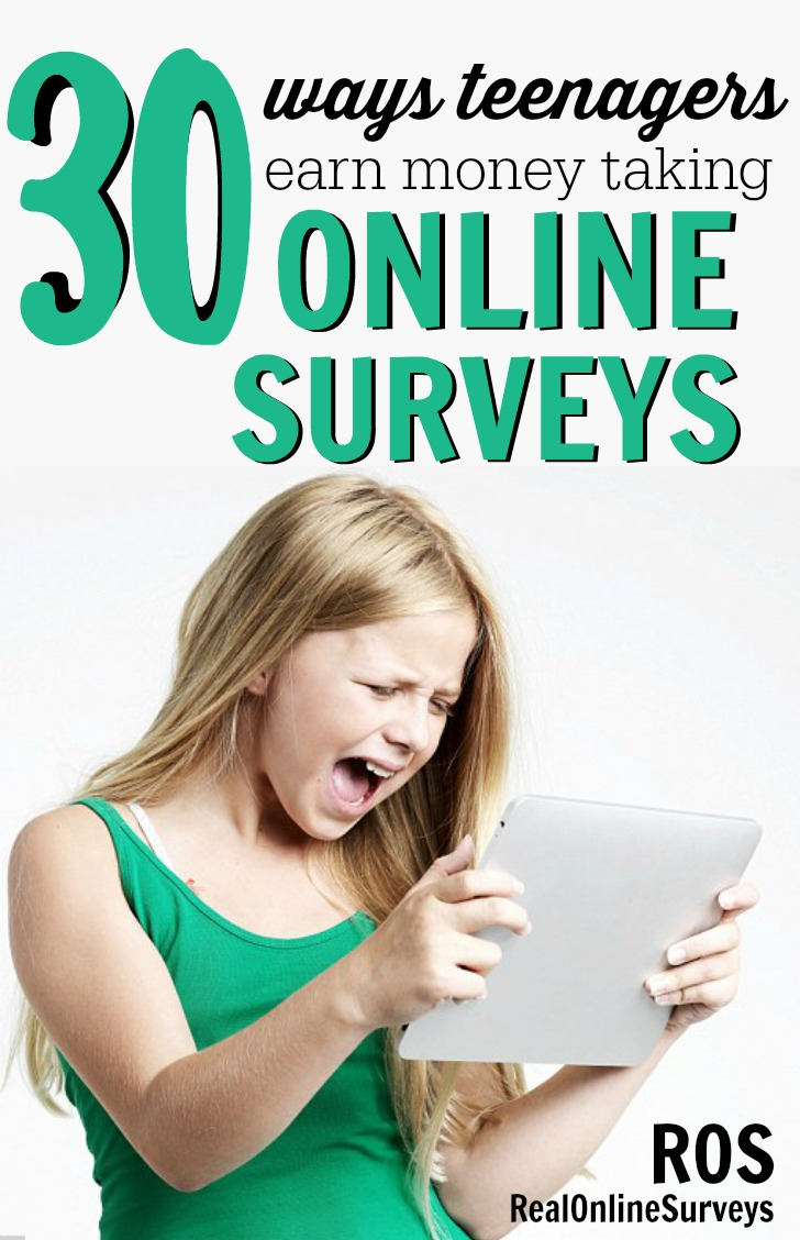 30 Ways Teenagers Earn Money With Online Surveys